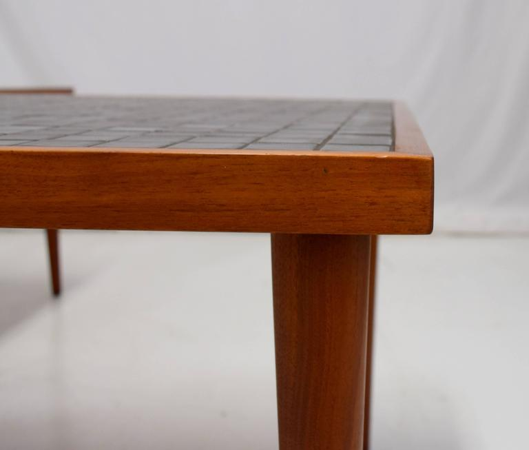 Pair of Martz Walnut and Tile End Tables for Marshall Studios In Excellent Condition For Sale In Chicago, IL