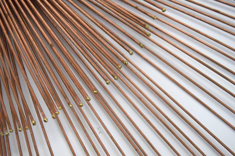 Curtis Jere Copper Rod Sunburst Wall Sculpture 6