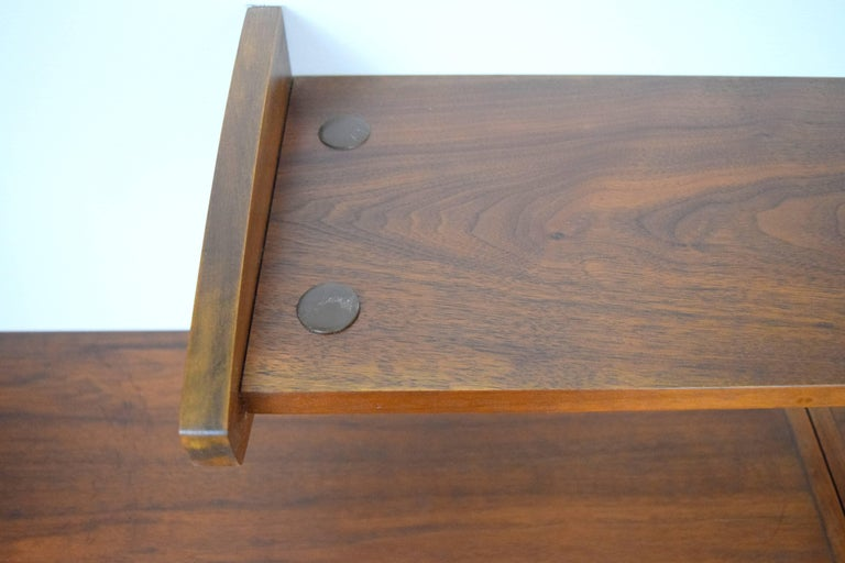 Midcentury Floating Walnut Wall Unit For Sale 2