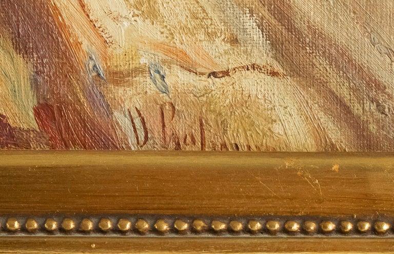 Balsamo Salvatore, Oil on Canvas Italian Marine Landscape, circa 1910 For Sale 5