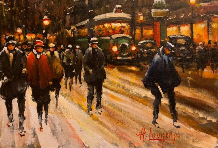 Lourenco Armand Oil on Canvas the Parisian Grand-Boulevards For Sale 2