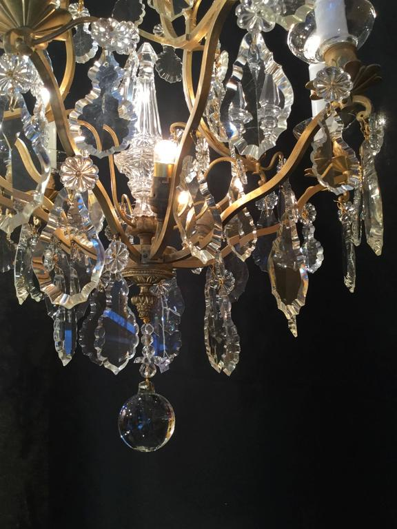 French Maison Baccarat Louis Xvi Style Ormolu And Crystal