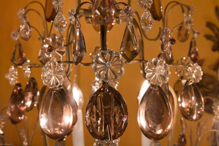 French Louis Xv Style Gilt Bronze And Crystal Chandelier