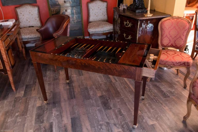 French Directoire Period Tric Trac Game Table Sign By