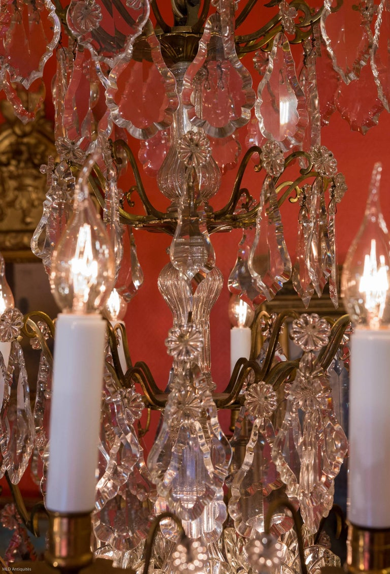 French Louis Xv Style Ormolu And Crystal Chandelier
