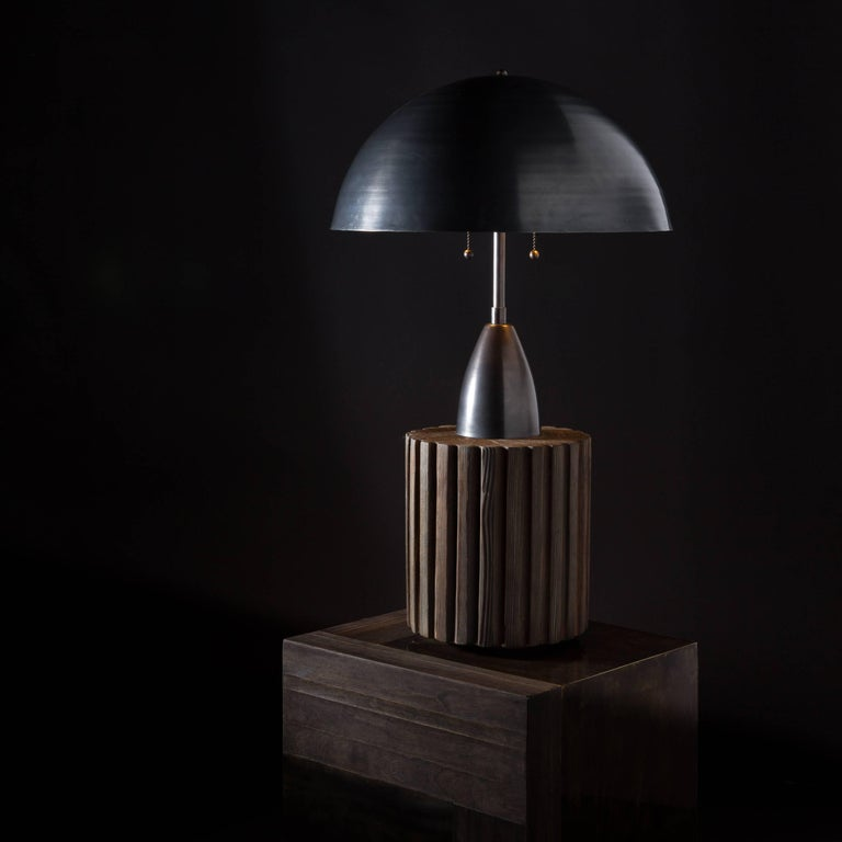 Contemporary Column Table Lamp by APPARATUS For Sale