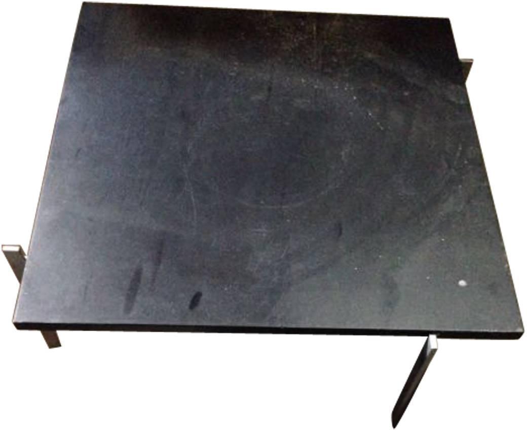 Poul kj rholm table basse pk61 granite and steel designed circa - Table basse polypropylene ...