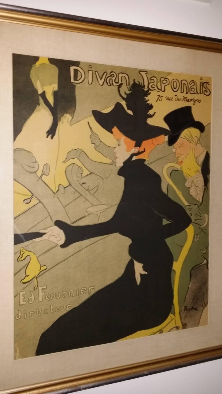 Henri de toulouse lautrec divan japonais lithograph in for Divan japonais