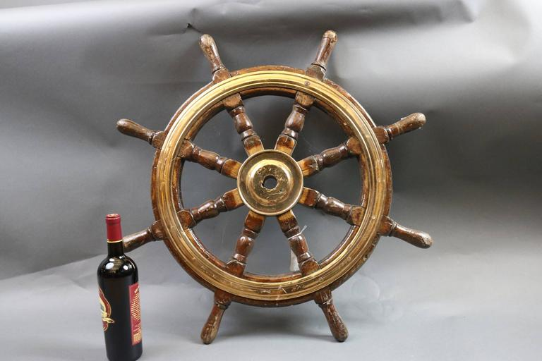 19th Century Antique Ship's Wheel For Sale