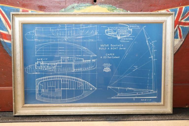 Original motor boating magazine blueprint circa 1900s for for Old blueprints for sale