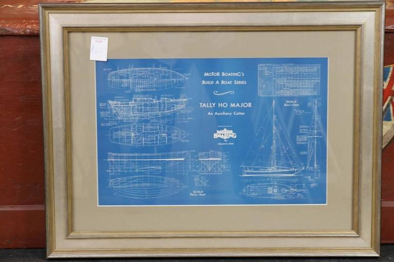 Authentic blueprint circa early 1900s at 1stdibs motor boating magazines build a boat series blueprint is of an auxiliary cutter called quot malvernweather Choice Image