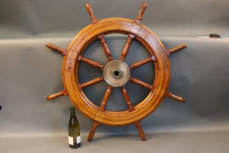 20th Century Authentic Ship's Wheel For Sale