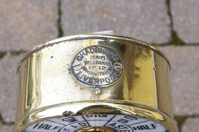 20th Century Brass Telegraph by Chadburns For Sale
