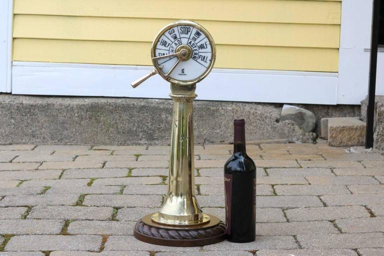 Brass Telegraph by Chadburns In Good Condition For Sale In Norwell, MA