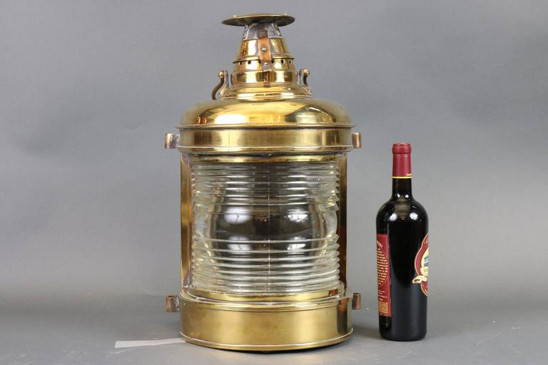Outstanding Solid Brass Ship's Lantern For Sale 2