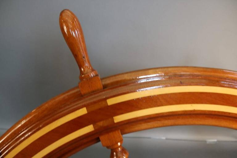 20th Century Wooden Ship's Wheel For Sale