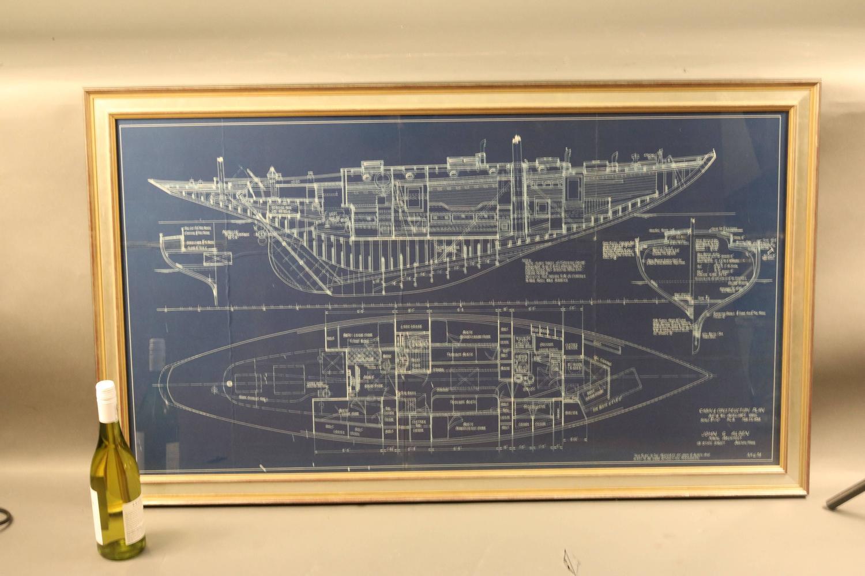 Original john alden blueprint from 1938 for sale at 1stdibs for Old blueprints for sale