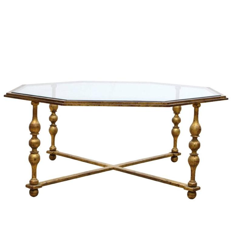 Low Coffee Table In The Taste Of Gilbert Poillerat, Circa 1940 For Sale