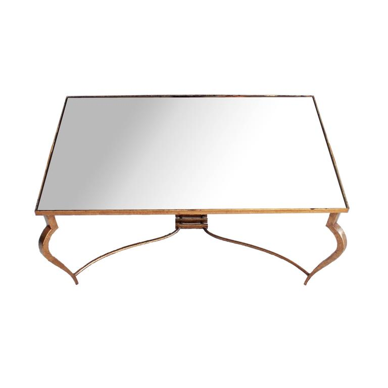 René Prou Fantastic Mirror Coffee Table, circa 1940