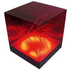 """""""Cubo di Teo"""" Struttura Evoluzione Ritmo Zig Zag Table Lamp by James Riviere"""