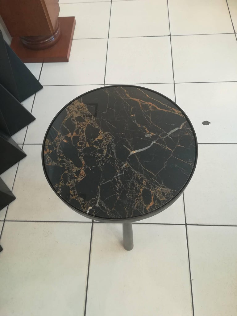 French Gueridon Bronze and Black Marble For Sale 2