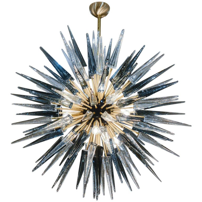 Exceptional Murano Glass Sputnik Chandelier For Sale