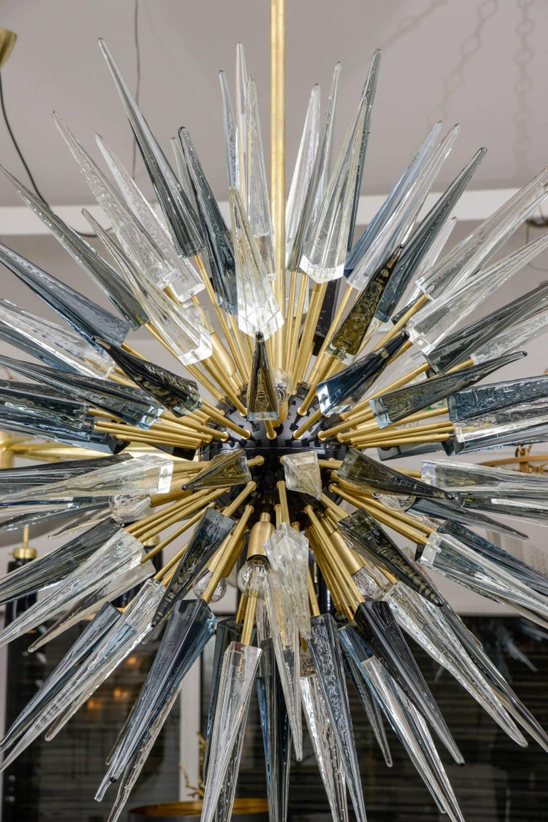 Exceptional Murano Glass Sputnik Chandelier In Excellent Condition For Sale In Saint-Ouen, FR