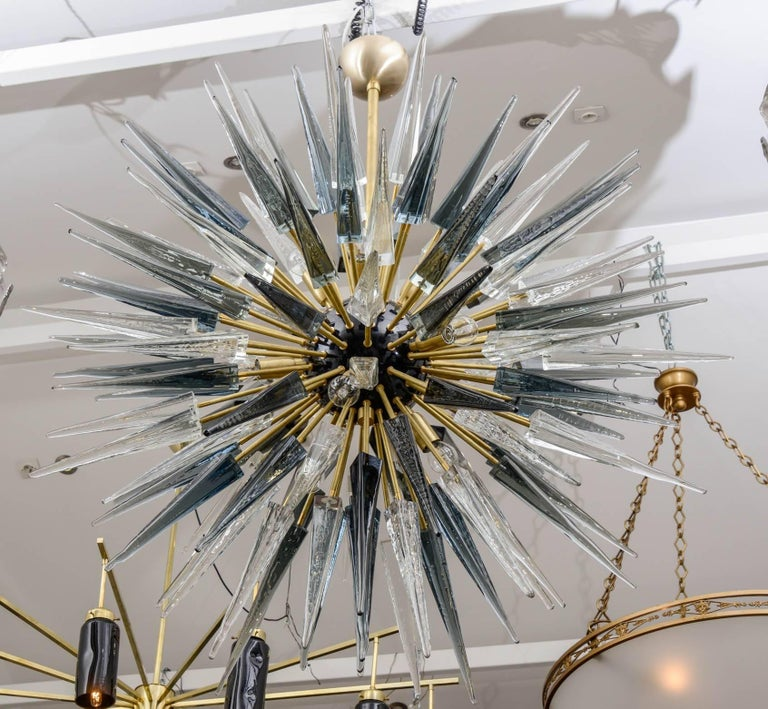 Exceptional Murano Glass Sputnik Chandelier For Sale 1