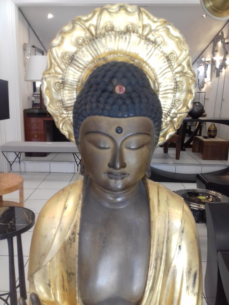 Other 18th Century Amida Buddha in Gold Lacquered Wood For Sale