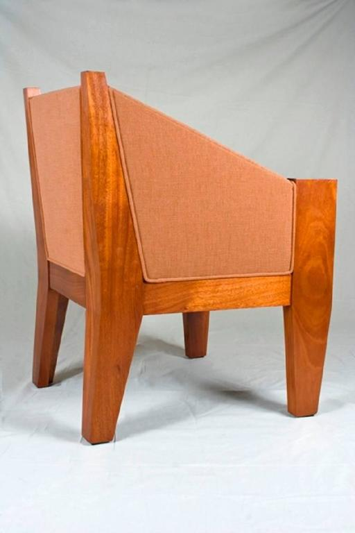 André Sornay (1902-2000). Furniture designer from Lyon (France) of the 20th century. He owes his recognition to his modernist vision of the furniture, including in particular, the use of nails in brass on his realizations.  Spectacular armchair in