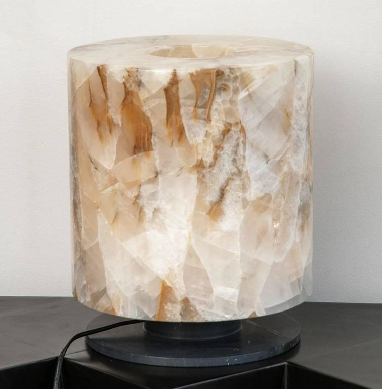 Gorgeous Rock Crystal Pair of Lamps 5