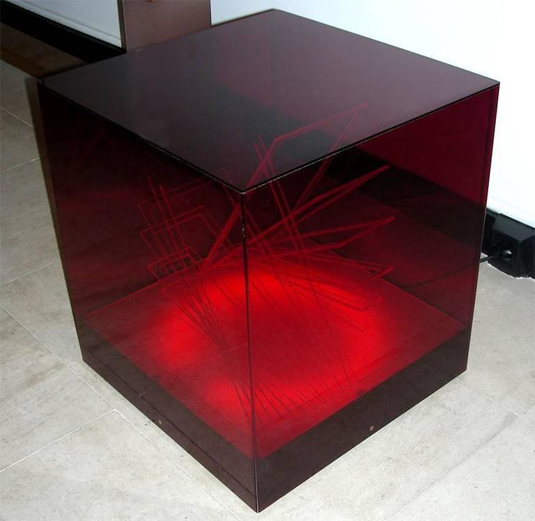 """""""Cubo di Teo"""" Struttura Evoluzione Ritmo Zig Zag Table Lamp by James Riviere  3"""