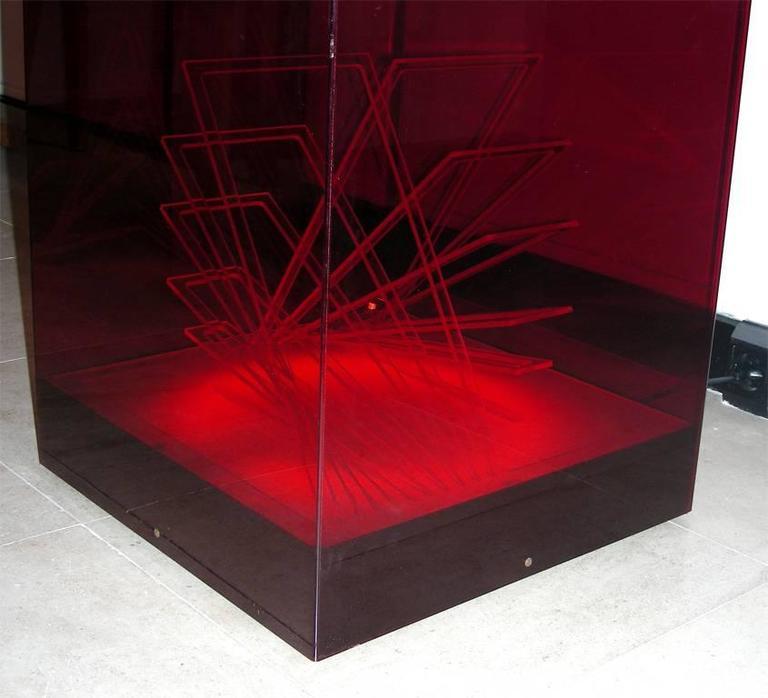 """""""Cubo di Teo"""" Struttura Evoluzione Ritmo Zig Zag Table Lamp by James Riviere  4"""