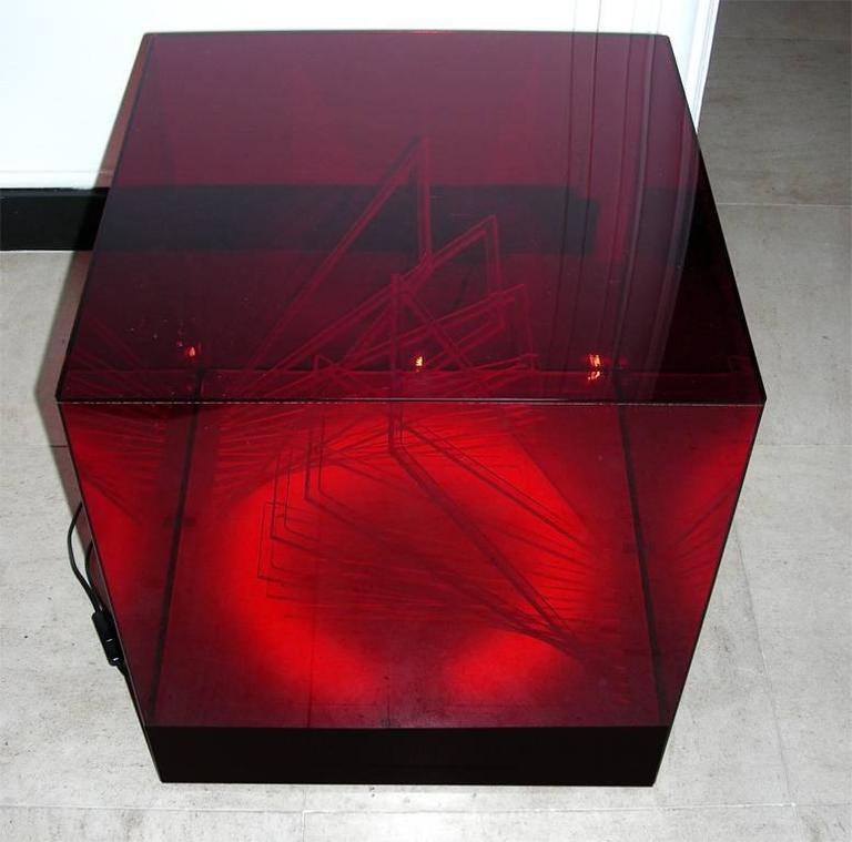 """""""Cubo di Teo"""" Struttura Evoluzione Ritmo Zig Zag Table Lamp by James Riviere  5"""
