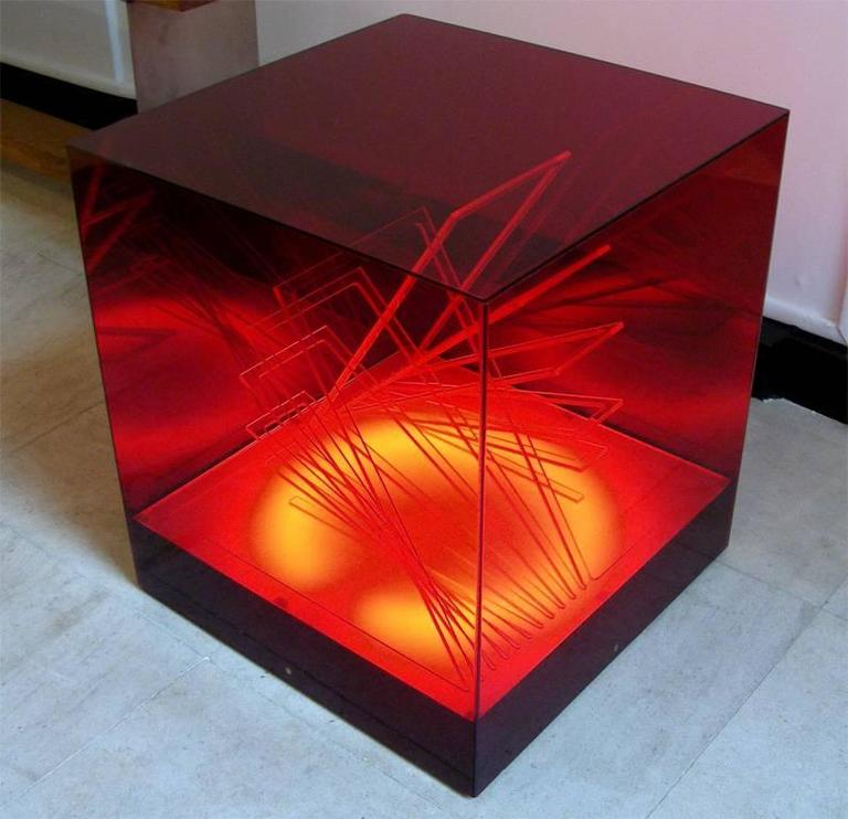 """""""Cubo di Teo"""" Struttura Evoluzione Ritmo Zig Zag Table Lamp by James Riviere  6"""