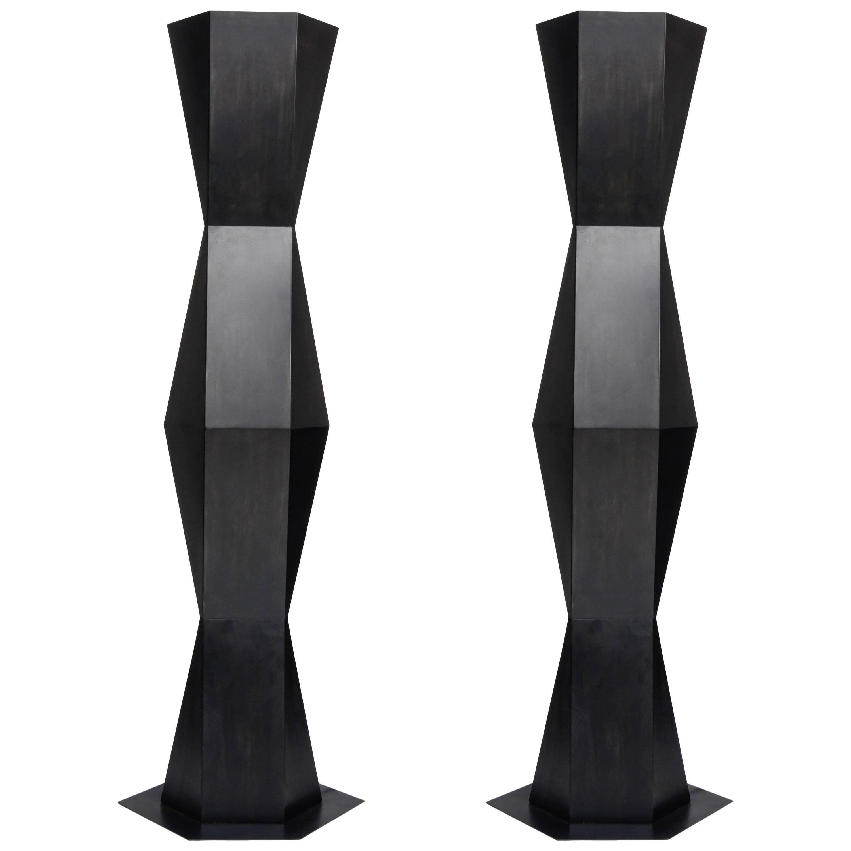 Pair of Floor Lamps TOTEM by Stephane Ducatteau