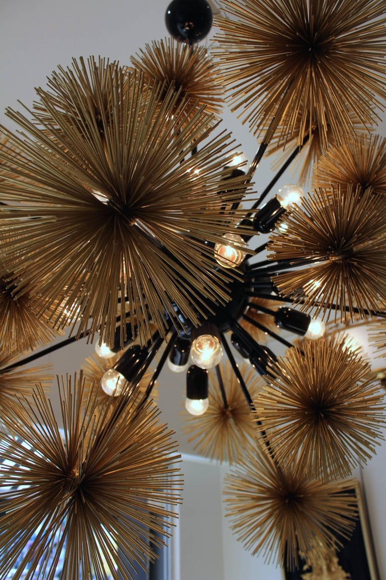 Mid-Century Modern Beautiful and Unusual Sputnik Chandelier For Sale