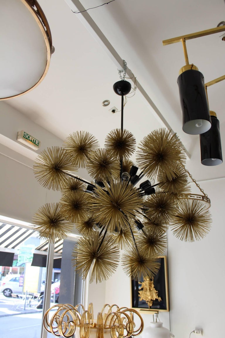 Contemporary Beautiful and Unusual Sputnik Chandelier For Sale