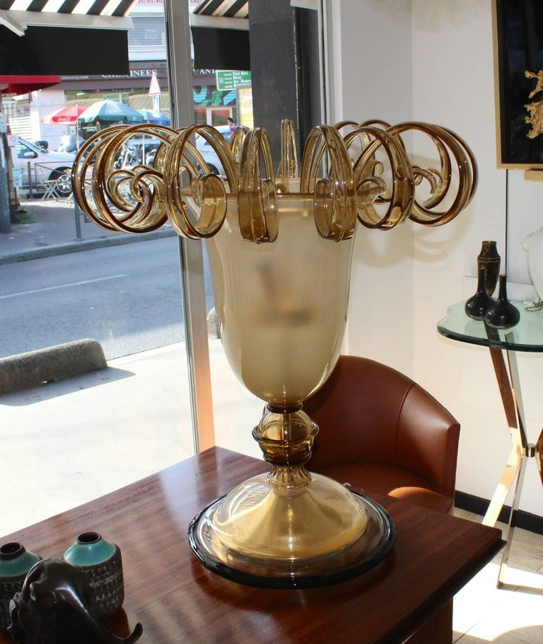 Beautiful 1960 Murano Glass Table Lamp 3