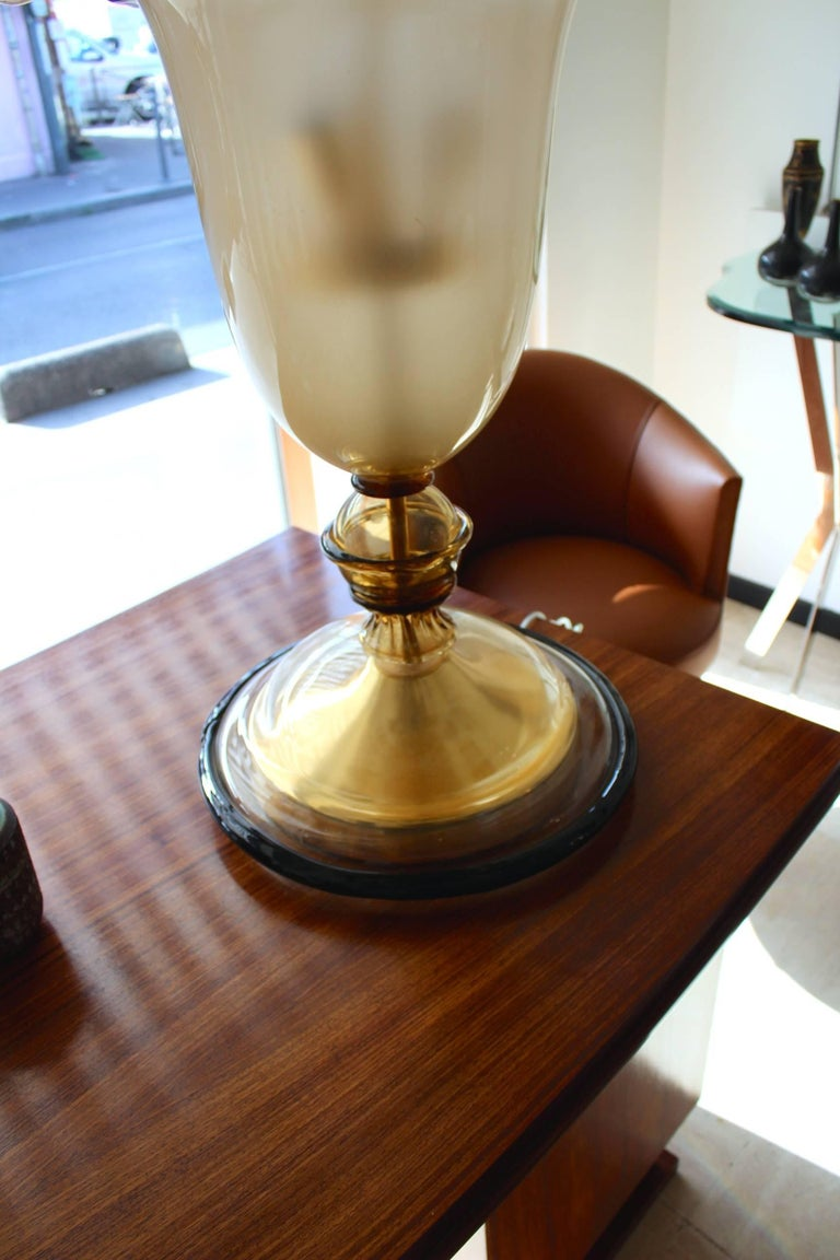 Beautiful 1960 Murano Glass Table Lamp 5