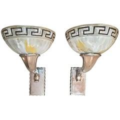 Art Deco Pair Of Sconces Circa 1930