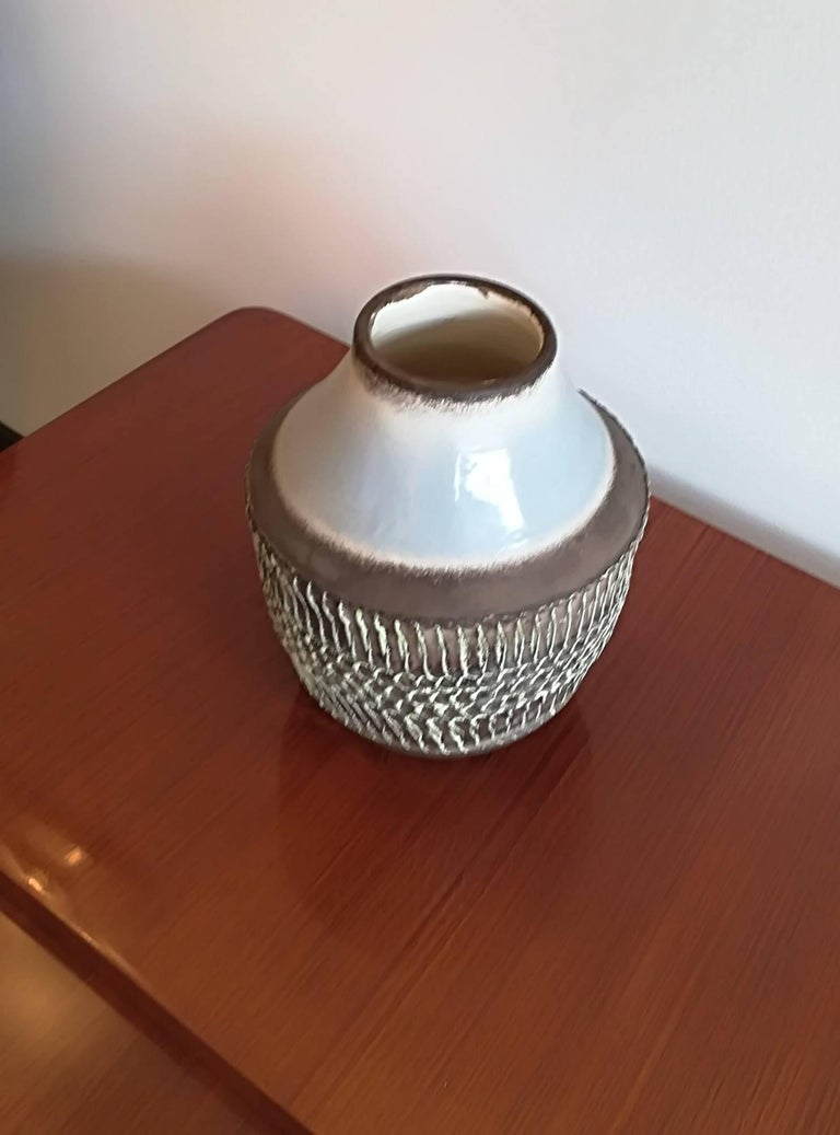 Jean Besnard Art Deco Ceramic Vase, circa 1930 In Excellent Condition For Sale In Saint-Ouen, FR