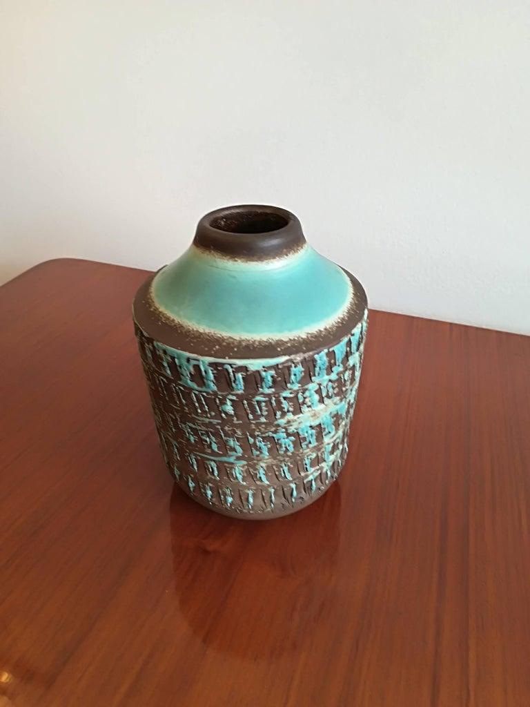 French Jean Besnard Art Deco Pair of Ceramic Vase, circa 1930 For Sale