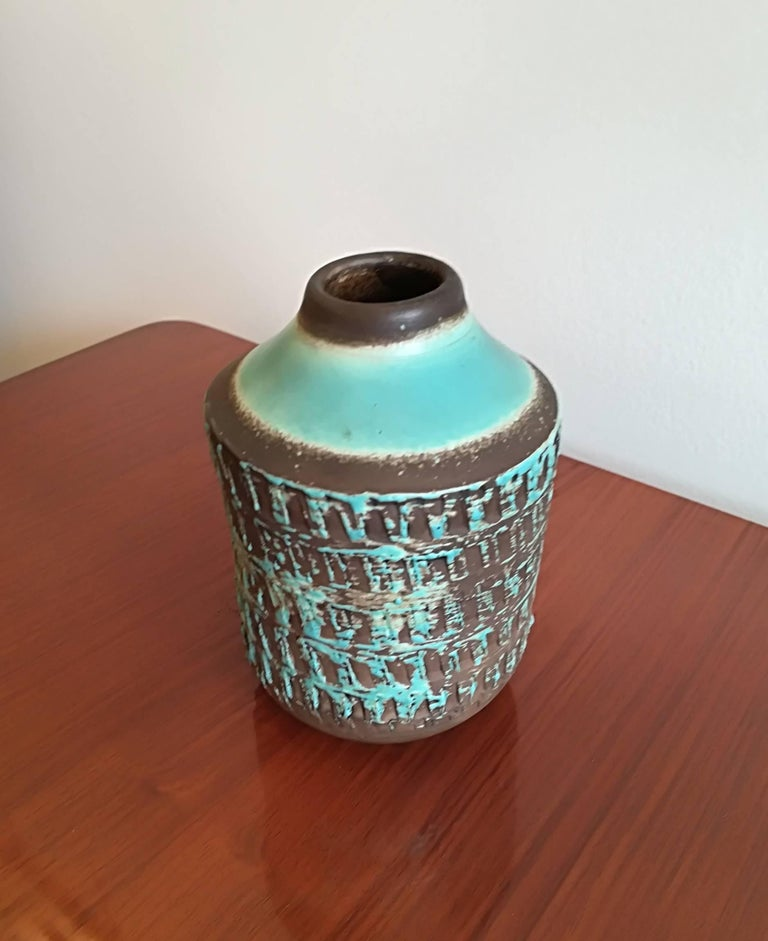 Jean Besnard Art Deco Pair of Ceramic Vase, circa 1930 In Excellent Condition For Sale In Saint-Ouen, FR