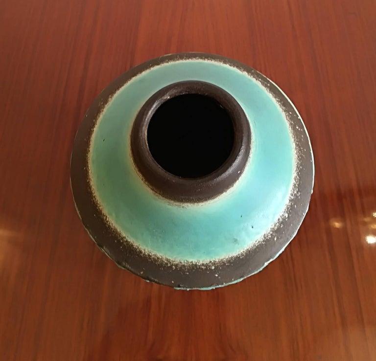 Mid-20th Century Jean Besnard Art Deco Pair of Ceramic Vase, circa 1930 For Sale
