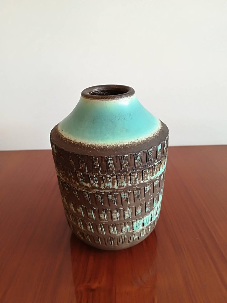 Jean Besnard Art Deco Pair of Ceramic Vase, circa 1930 For Sale 2
