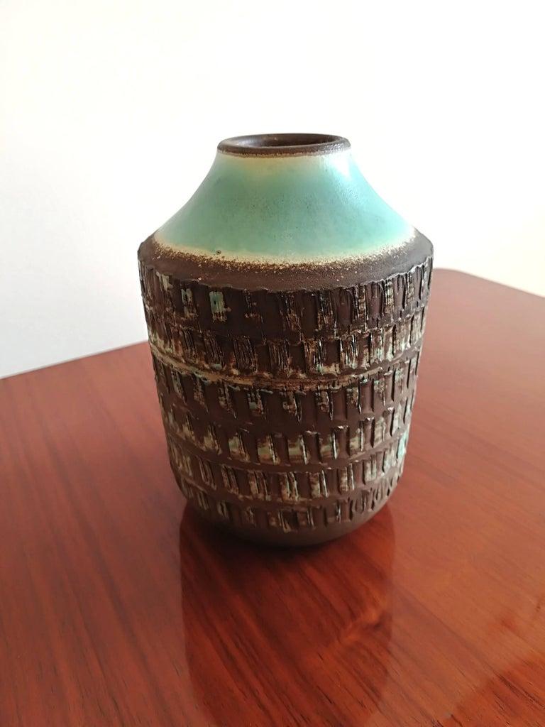 Jean Besnard Art Deco Pair of Ceramic Vase, circa 1930 For Sale 3