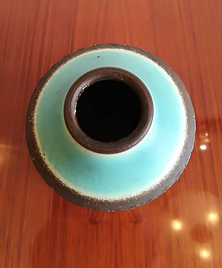Jean Besnard Art Deco Pair of Ceramic Vase, circa 1930 For Sale 4