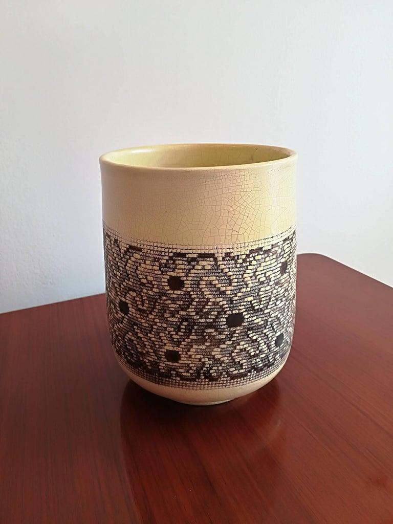 Jean Besnard Art Deco Ceramic Vase, circa 1932 For Sale 1