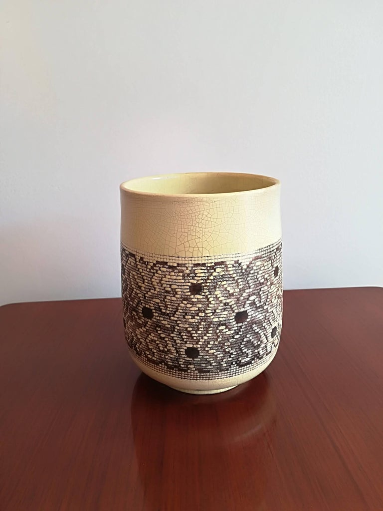 Jean Besnard Art Deco Ceramic Vase, circa 1932 For Sale 2